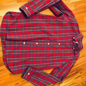 Gap button down, red plaid, boys size 10